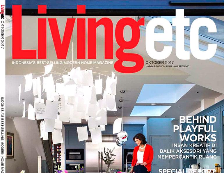 Parution de la Console «Air» dans le magazine «Living Etc»