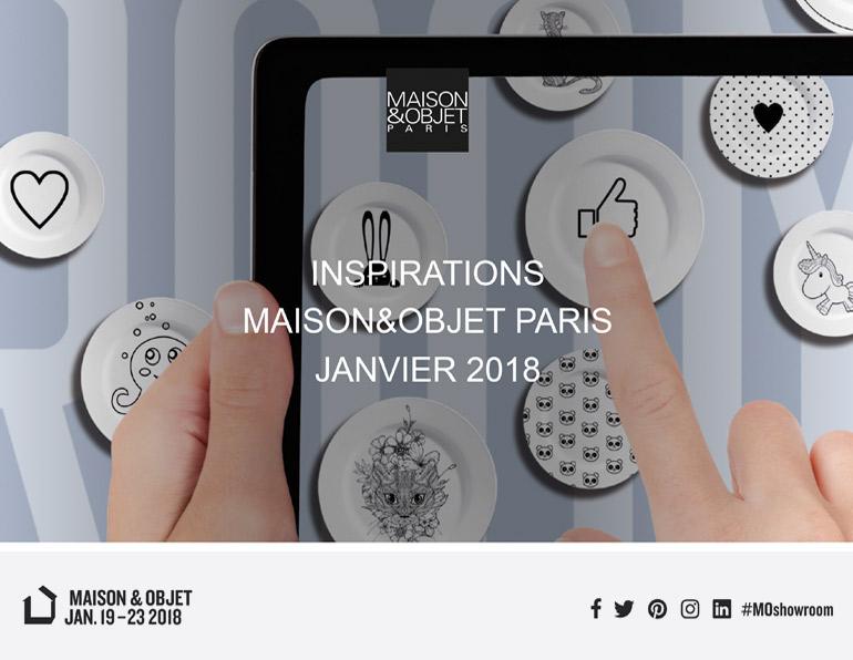 Sélection pour le showroom «Inspirations» de Maison & Objet par l'agence Nelly Rodi