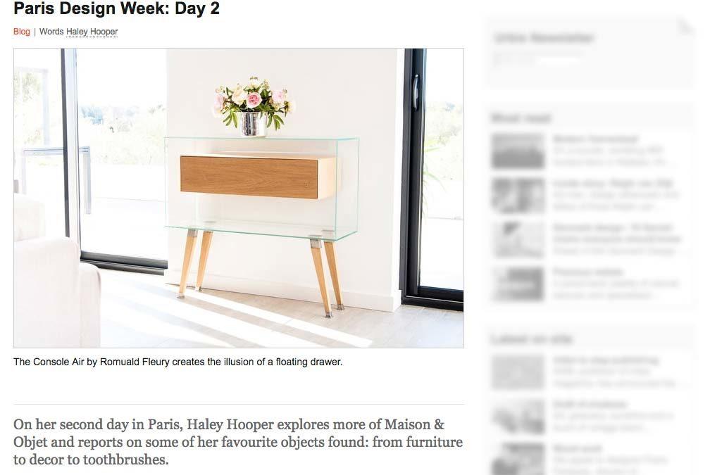 La console Air paraît dans Urbis Magazine